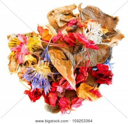 Dried Crumpled Leaves And Flowers Photo Manipulation