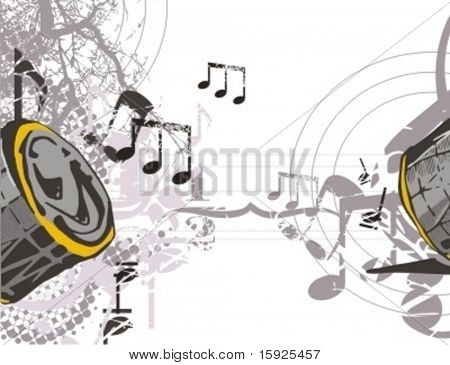 Musical Background-Grunge Style Series.