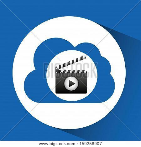 cloud computing clapper film media vector illustration eps 10