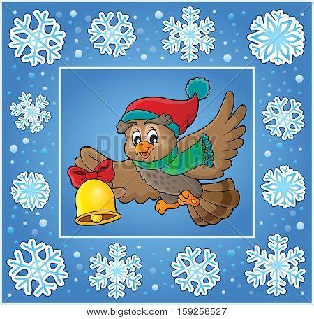 Christmas decorative greeting card 7 - eps10 vector illustration.