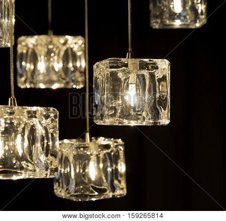 Closeup View Of Contemporary Light Fixture