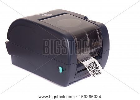 Barcode label printer.Dummy barcode contains text
