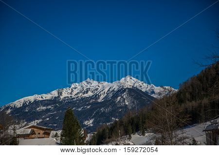 The german Alps at beuatiful summerday with mountains