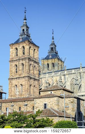 Facade of the Cathedral of Astorga Spain.