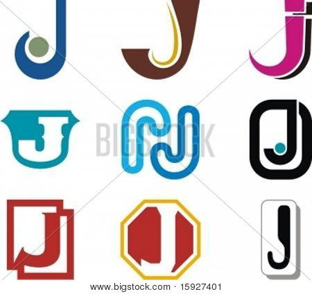 Alphabetical Logo Design Concepts. Letter J. Check my portfolio for more of this series.