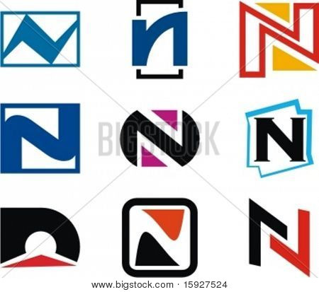 Alphabetical Logo Design Concepts. Letter N. Check my portfolio for more of this series.