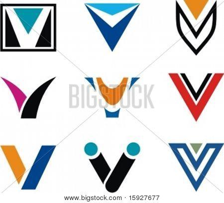 Alphabetical Logo Design Concepts. Letter V. Check my portfolio for more of this series.