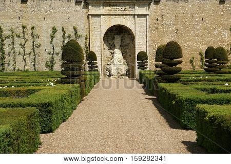 France, May 07: France, May 07, 2012.  Ornamental Gardens Near Castle Of Villandry