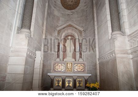 Tours, France, May 07: Tours, France, May 07, 2012. Interior Of The Basilica Of Saint-martin, Tours,