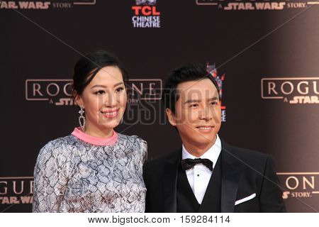 LOS ANGELES - DEC 1:  Cissy Wang, Donnie Yen at the Donnie Yen Hand And Footprint Ceremony at TCL Chinese Theater IMAX on December 1, 2016 in Los Angeles, CA