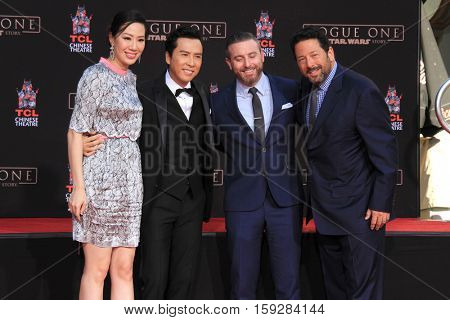 LOS ANGELES - DEC 1:  Cissy Wang, Donnie Yen, Guests at the Donnie Yen Hand And Footprint Ceremony at TCL Chinese Theater IMAX on December 1, 2016 in Los Angeles, CA