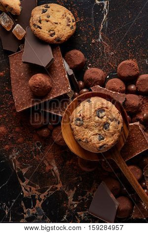 homemade cookies on a wooden spoon