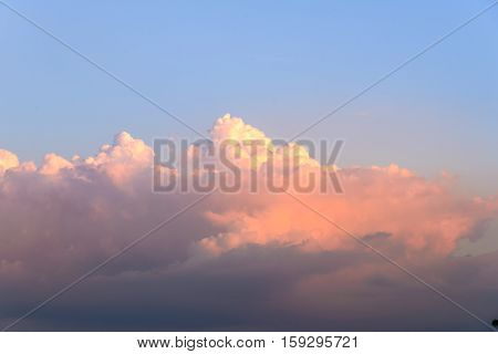 Blue Sky And Cloud, Sun-setting