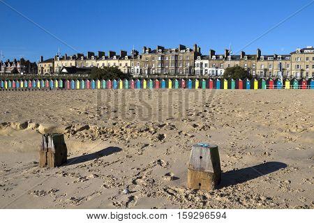 Lowestoft Beach Suffolk England on a sunny day