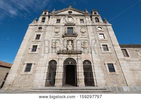 Avila Spain - October 27: Famous convent Santa teresa de Jesus on October 27 2016 in Avila Spain.