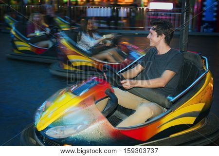 Teens Fun Theme park Car Bump Concept