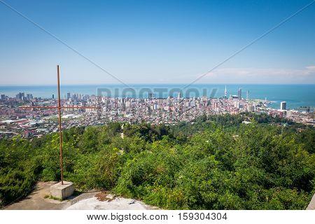 Panoramic View Of The City Batumi, Georgia
