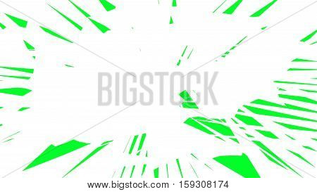 Tear transition. Green screen. Transparent background. Green and white