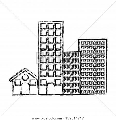 Ctiy building icon. Architecture urban modern and metropolis theme. Isolated design. Vector illustration