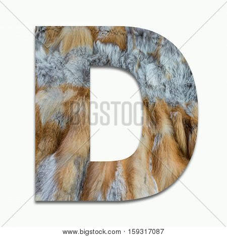 D red fox fur in a font trained