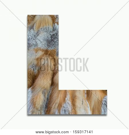 L red fox fur in a font trained