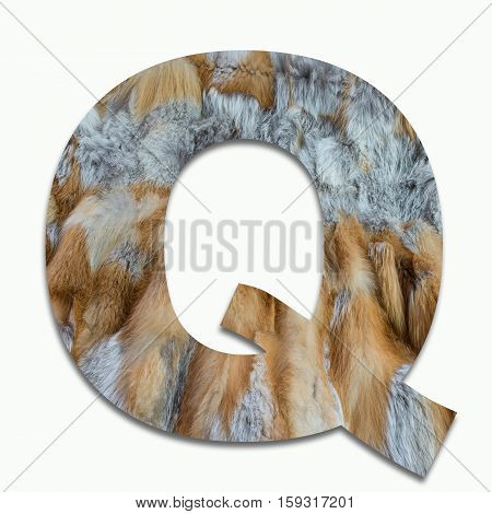 Q red fox fur in a font trained