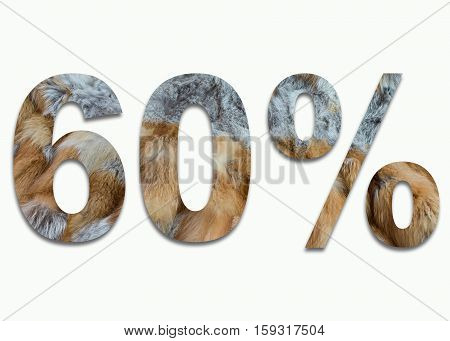 60% red fox fur in a font trained