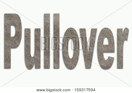 Sweater Angora Wool in a font trained