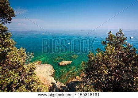 Ligurian Sea , Liguria Italy summer Sun yacht