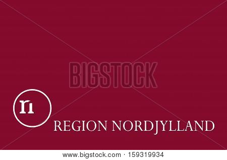 Flag of North Jutland Region of Denmark. Vector illustration