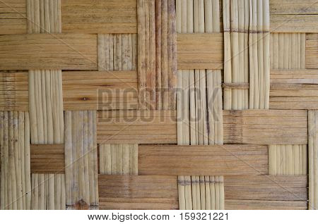 Grunge Bamboo Wooven Basketry Background And Texture