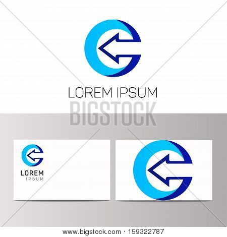 Abstract c letter logo icon sign symbol. C vector logotype