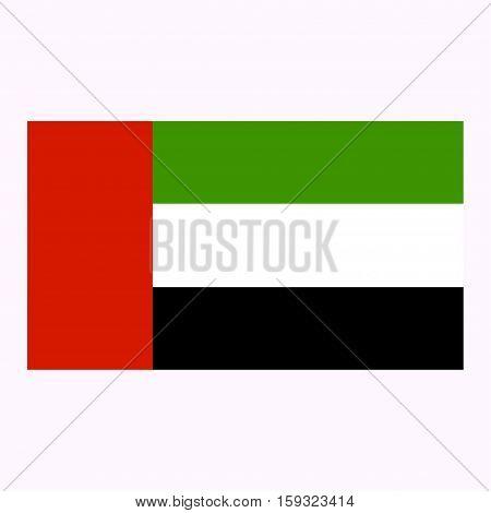 Flag of United Arab Emirates on a grey background