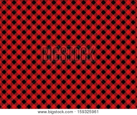 Diagonal traditional tablecloth background red and black