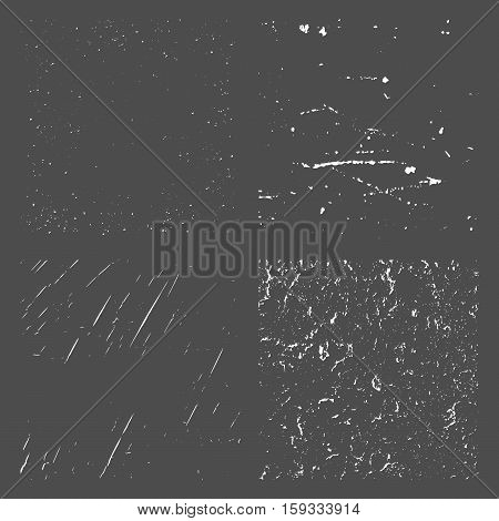 Set Grunge Black and White Distress Texture. Vector Illustration. Simply Place illustration over any Object to Create grungy Effect abstractsplattered dirtyposter for your design.