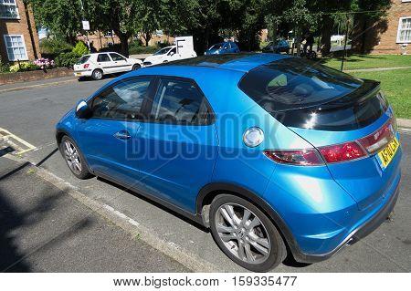 Hunday Blue Car