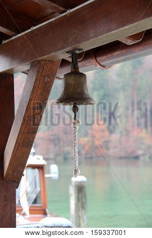 Sailing / Bell on a yacht .