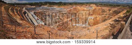 Martha gold mine in Waihi in New Zealand