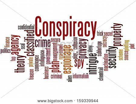 Conspiracy, Word Cloud Concept