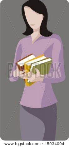 Vector profession series. Librarian. Check my portfolio for much more of this series as well as thousands of similar and other great vector items.