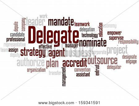 Delegate, Word Cloud Concept