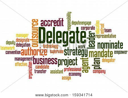 Delegate, Word Cloud Concept 3