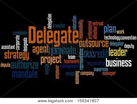 Delegate, Word Cloud Concept 4