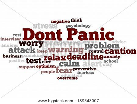 Dont Panic, Word Cloud Concept 6