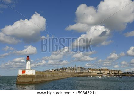 Saint-malo, Coastal Town, Britain, France, Harbor