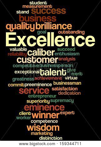 Excellence, Word Cloud Concept 5