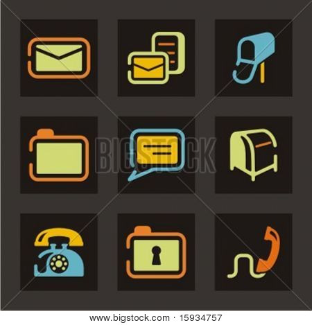 Web icons set. Mail and communication. Check my portfolio for much more of this series as well as thousands of similar and other great vector items.