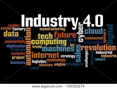 Industry 4.0, Word Cloud Concept 6