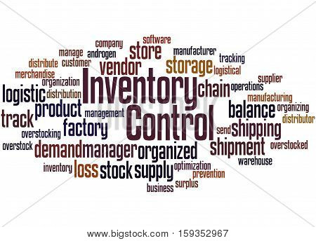 Inventory Control, Word Cloud Concept 4
