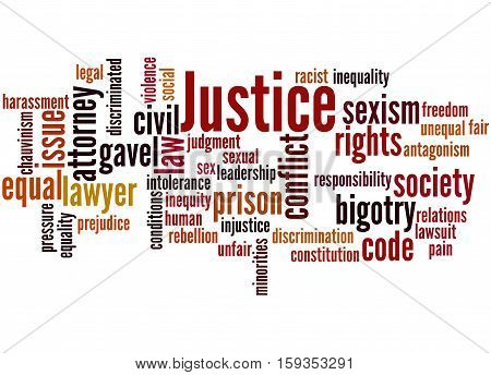 Justice Word Cloud Concept 2